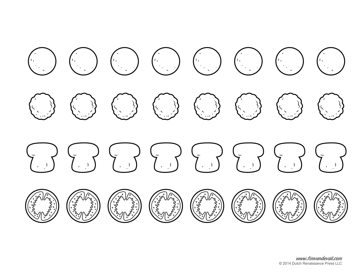 5 Images of Printable Pizza Template