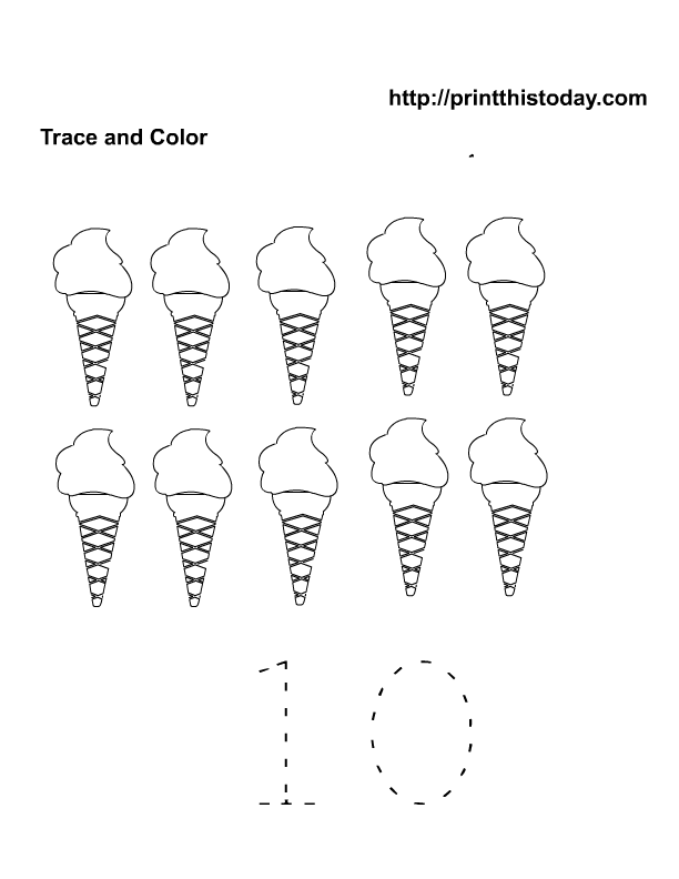 7 Images of Free Preschool Printables Summer