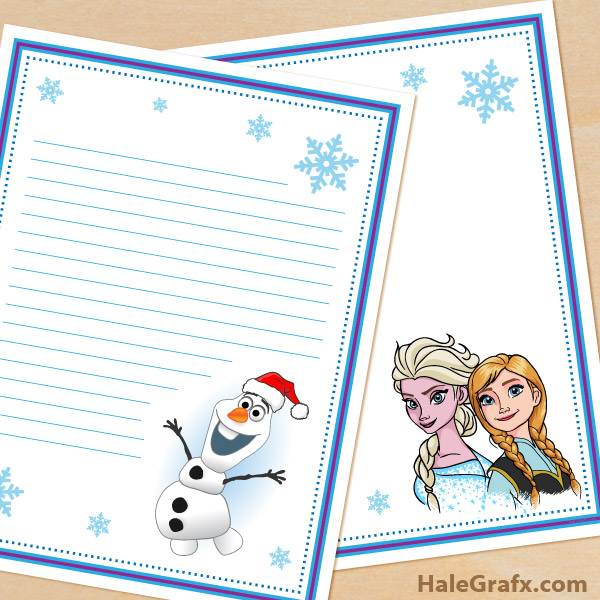 5 Images of Free Printable Disney Stationery Templates
