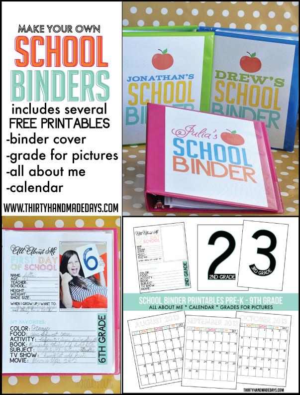 7 Images of Back To School Binder Free Printables