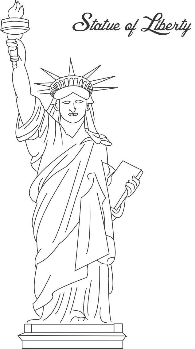 4 Images of Free Printable Statue Of Liberty To Color