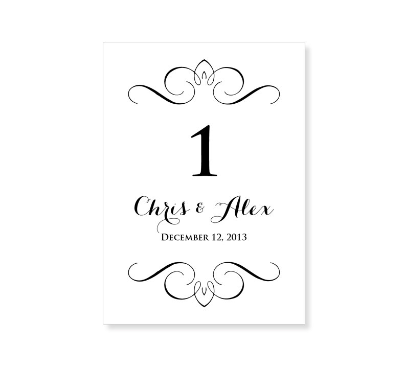 6 best images of printable table number templates free printable table numbers template for Wedding table numbers template