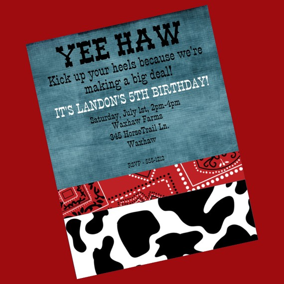 8 best images of printable western birthday invitations free printable cowboy party. Black Bedroom Furniture Sets. Home Design Ideas