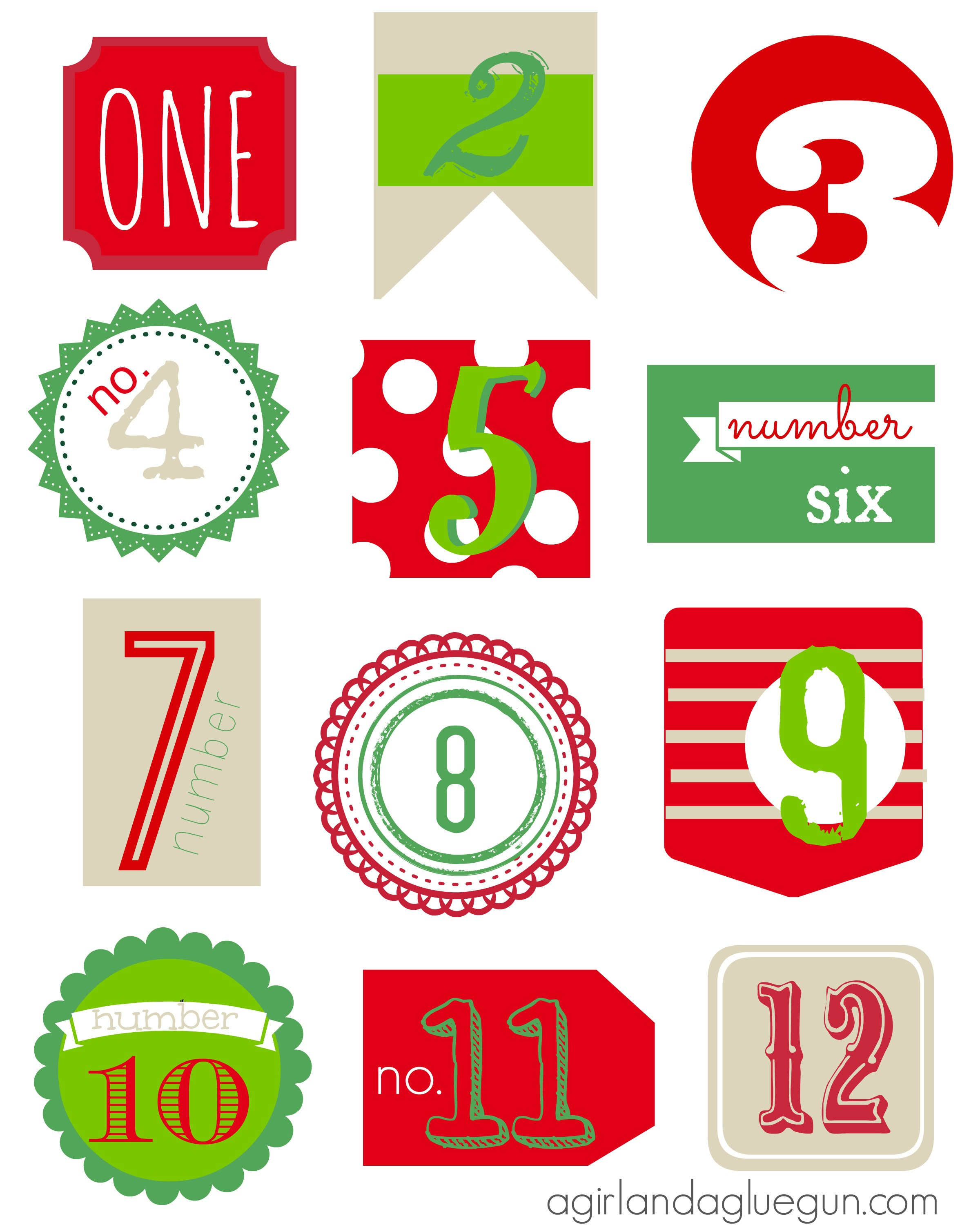 6 best images of free christmas printables 12 days the twelve days of christmas 12 days. Black Bedroom Furniture Sets. Home Design Ideas