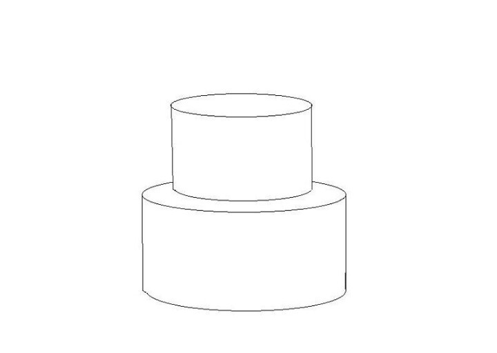 6 Images of 2 Tier Cake Templates Printable