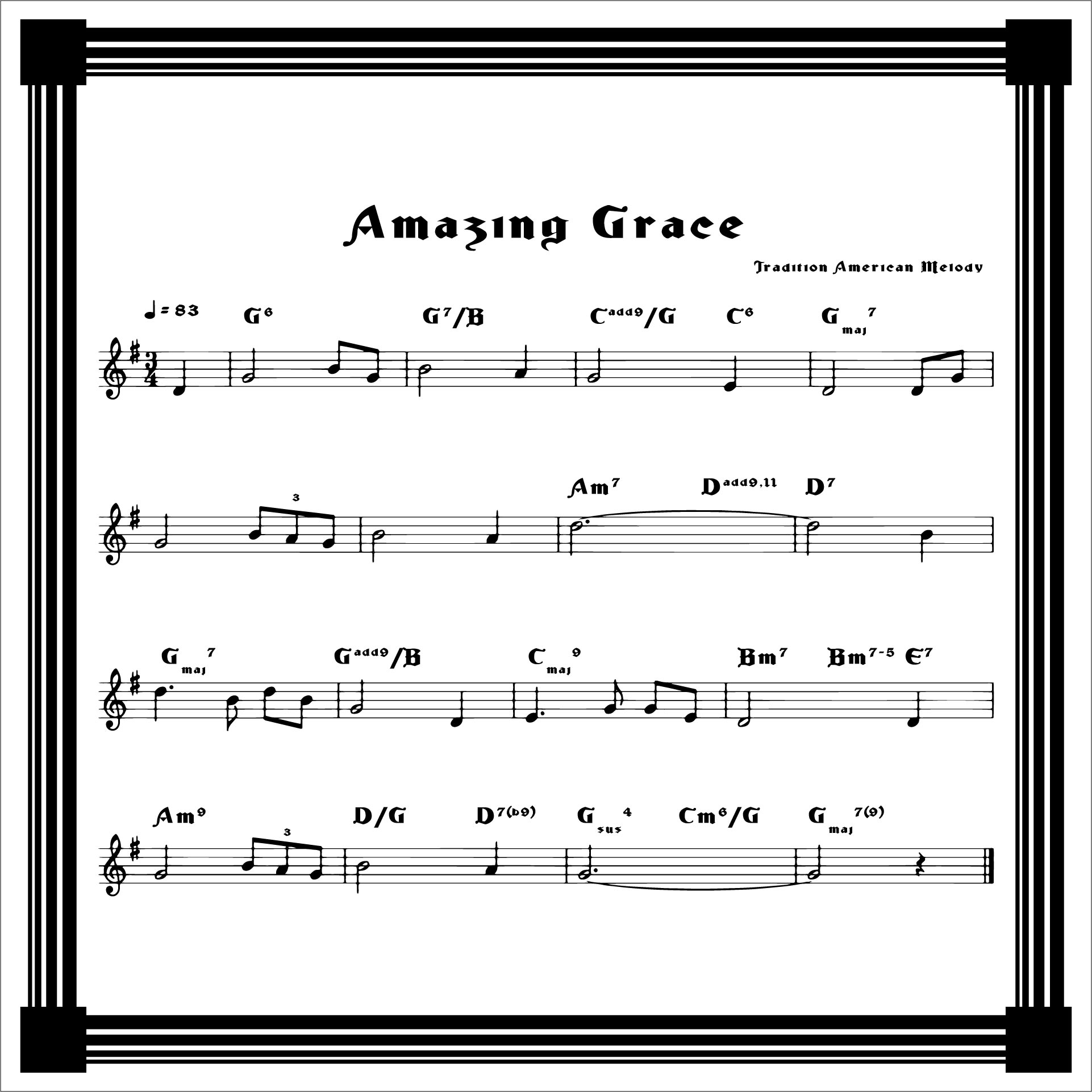 Best 25 Amazing Grace Guitar Chords Ideas On Pinterest: Amazing Grace Hymn Sheet Music Pdf