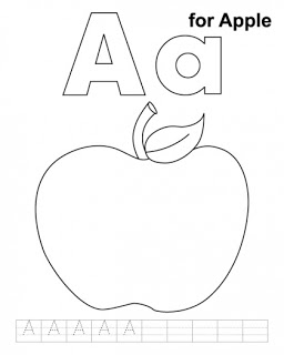 8 Images of Letter AA Printable Coloring Pages