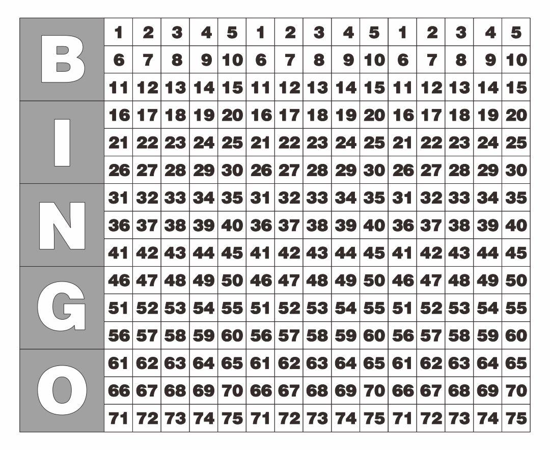 Bingo Caller Card Printable