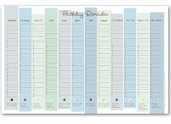 7 Images of Free Printable Birthday Reminder Calendar Template