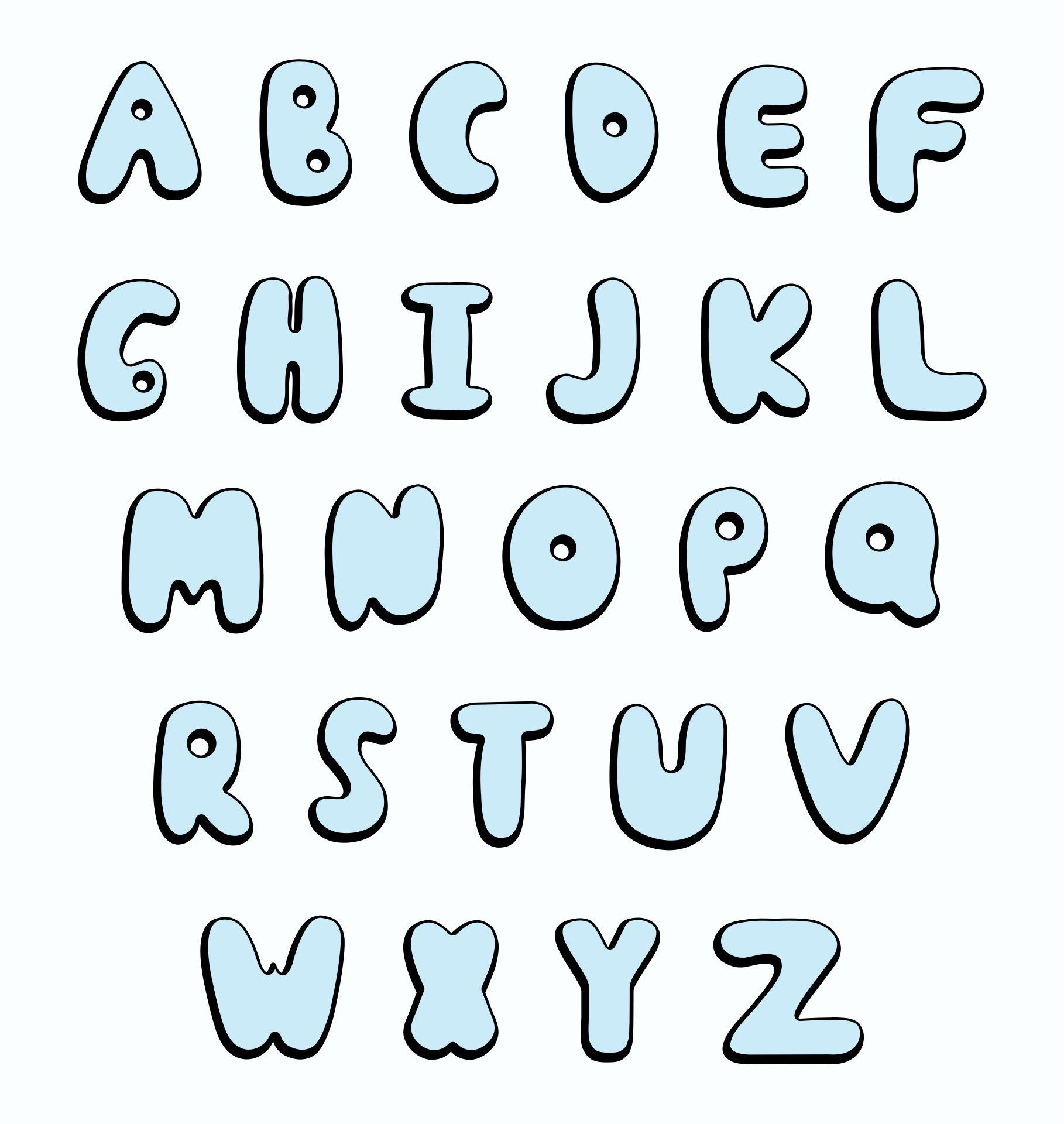 5 Images of Printable Bubble Letters Alphabet