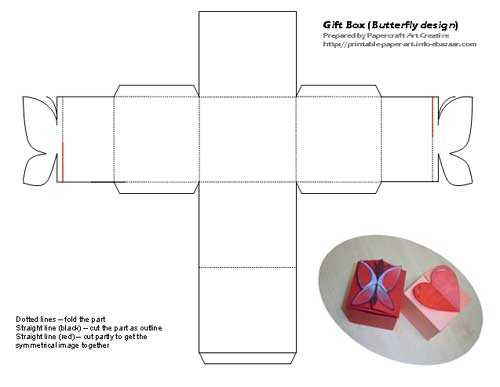 Butterfly Gift Box Template