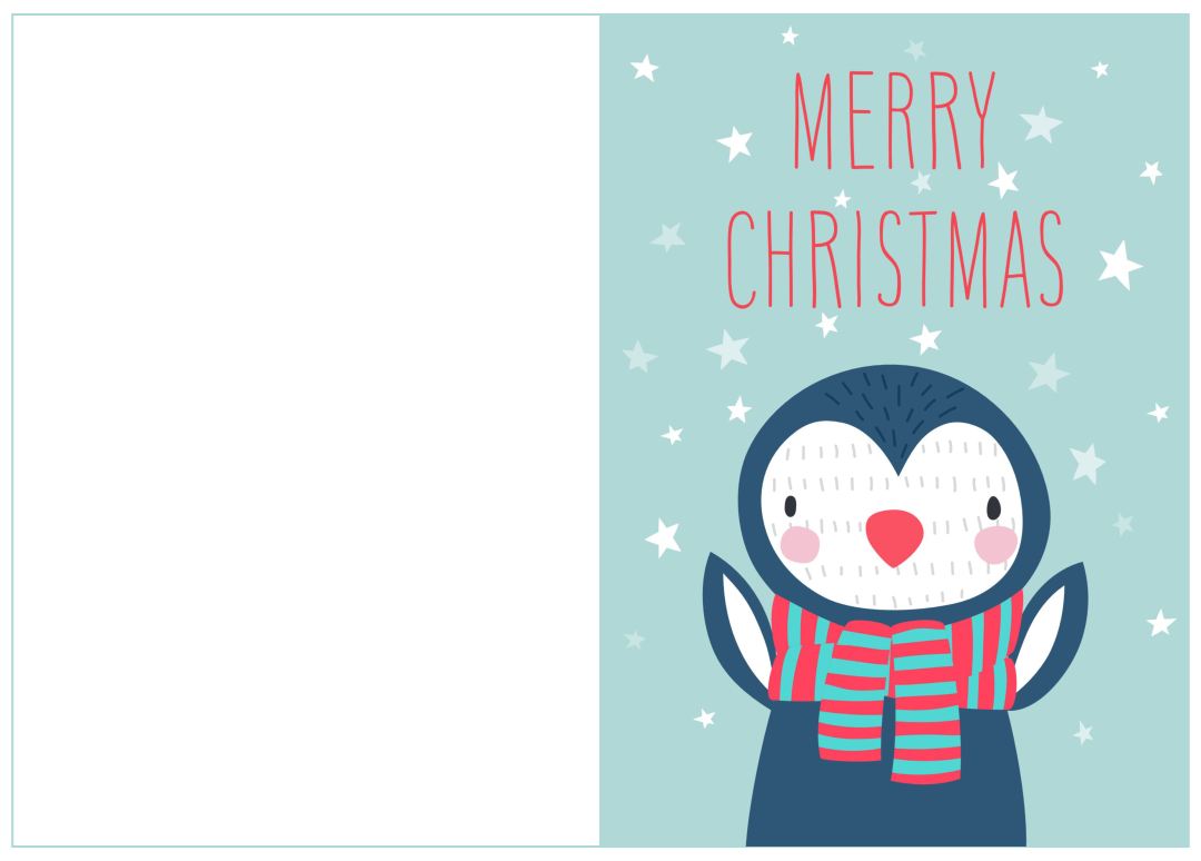 5 Images of Printable Christmas Card Templates