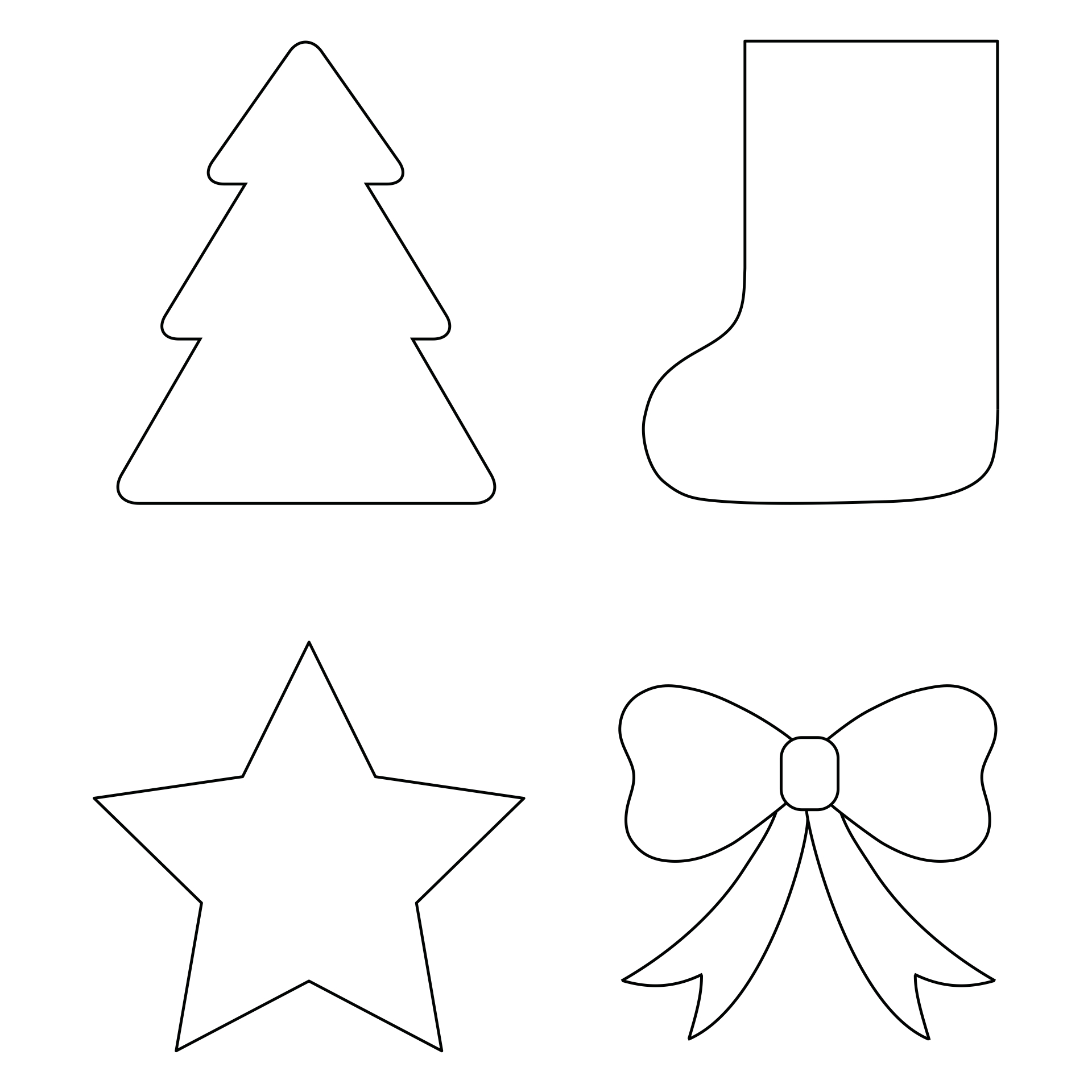 7 Images of Free Printable Christmas Ornament Shapes