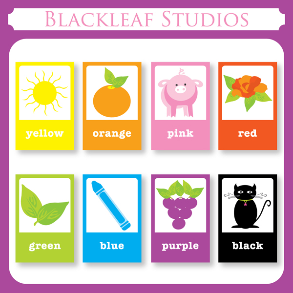 8 Images of Basic Printable Color Flash Cards