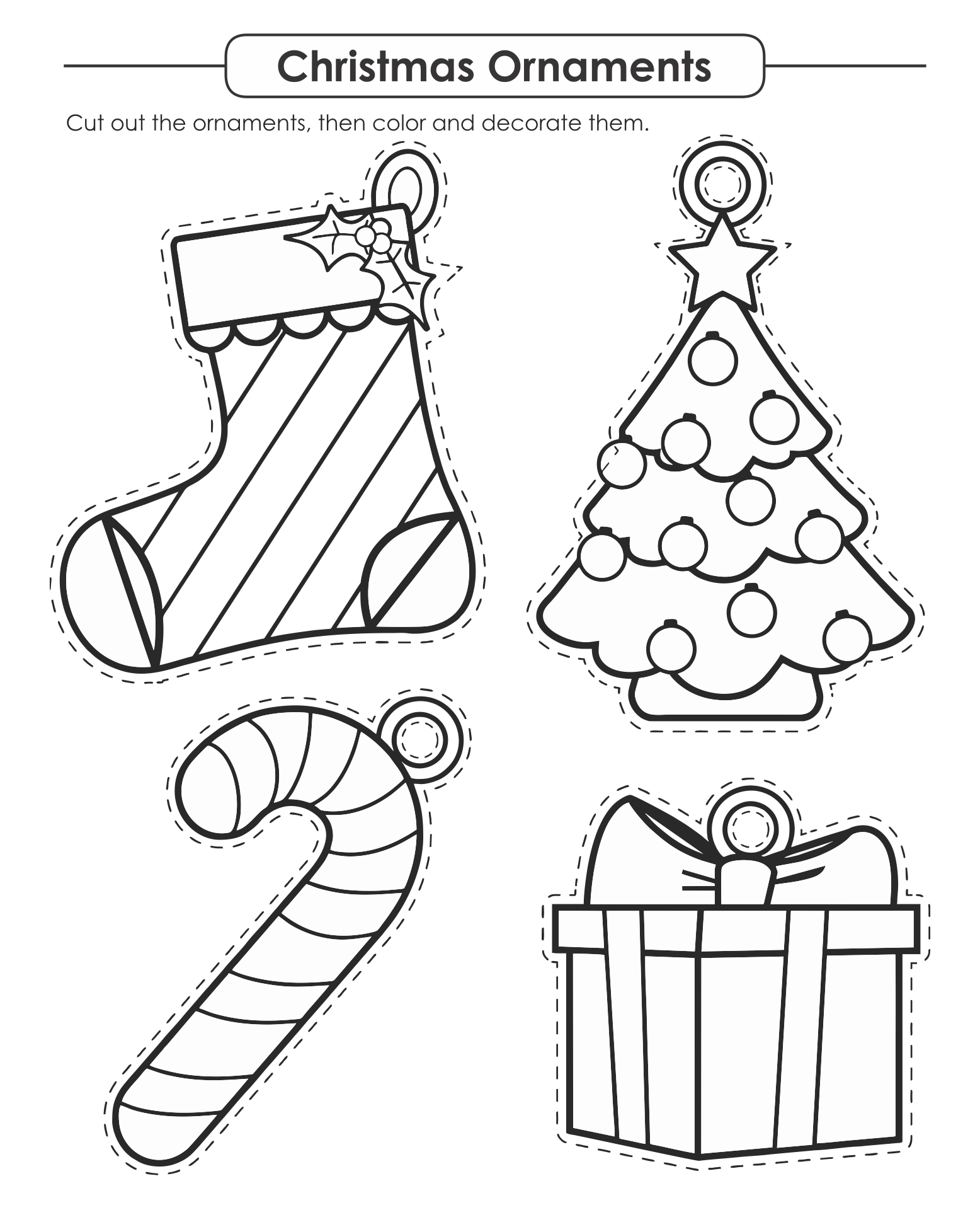 Cut and Paste Christmas Activities for Kids
