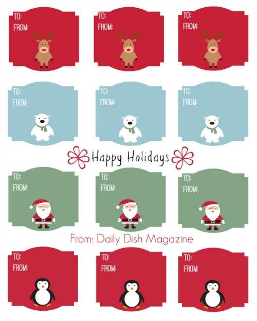 7 Images of Printable Animal Gift Tags