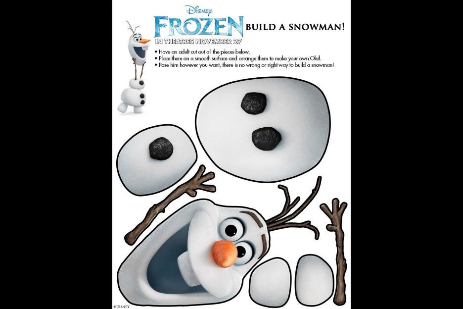 6 Images of Frozen Olaf Printable Crafts
