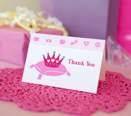 5 Images of Printable Princess Thank You Cards