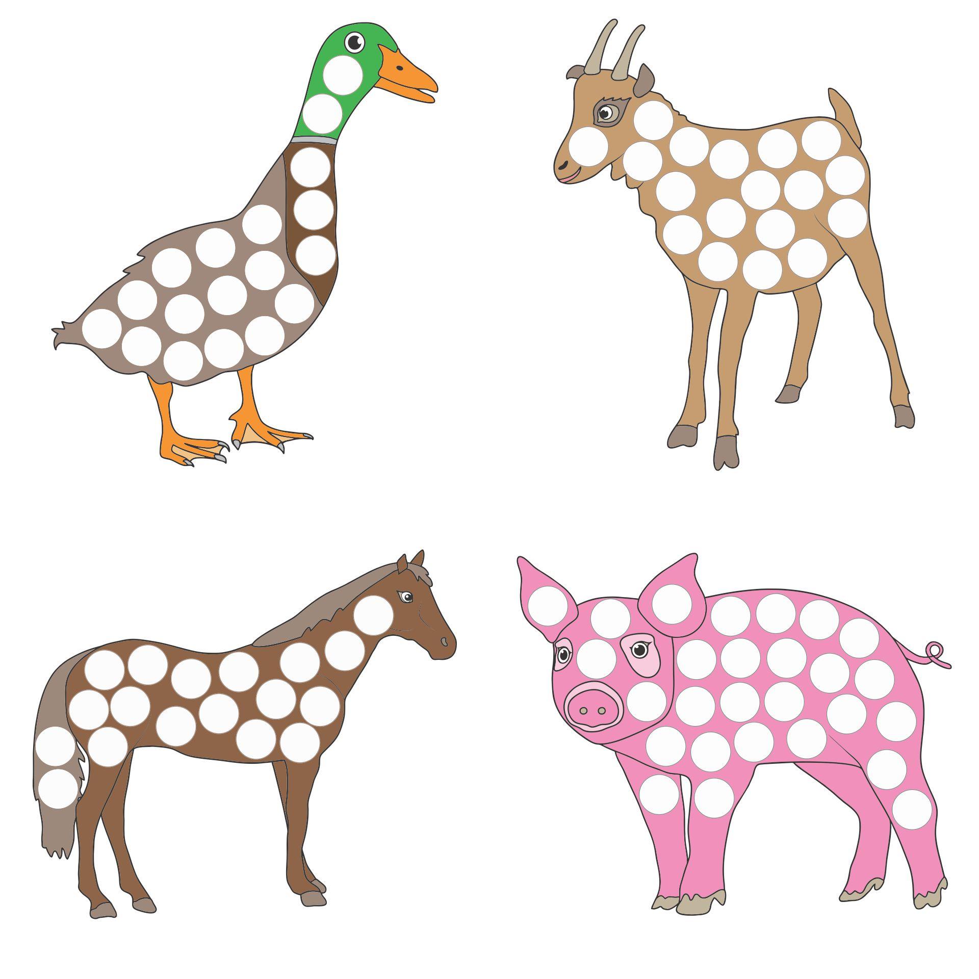Do a Dot Animals Printables