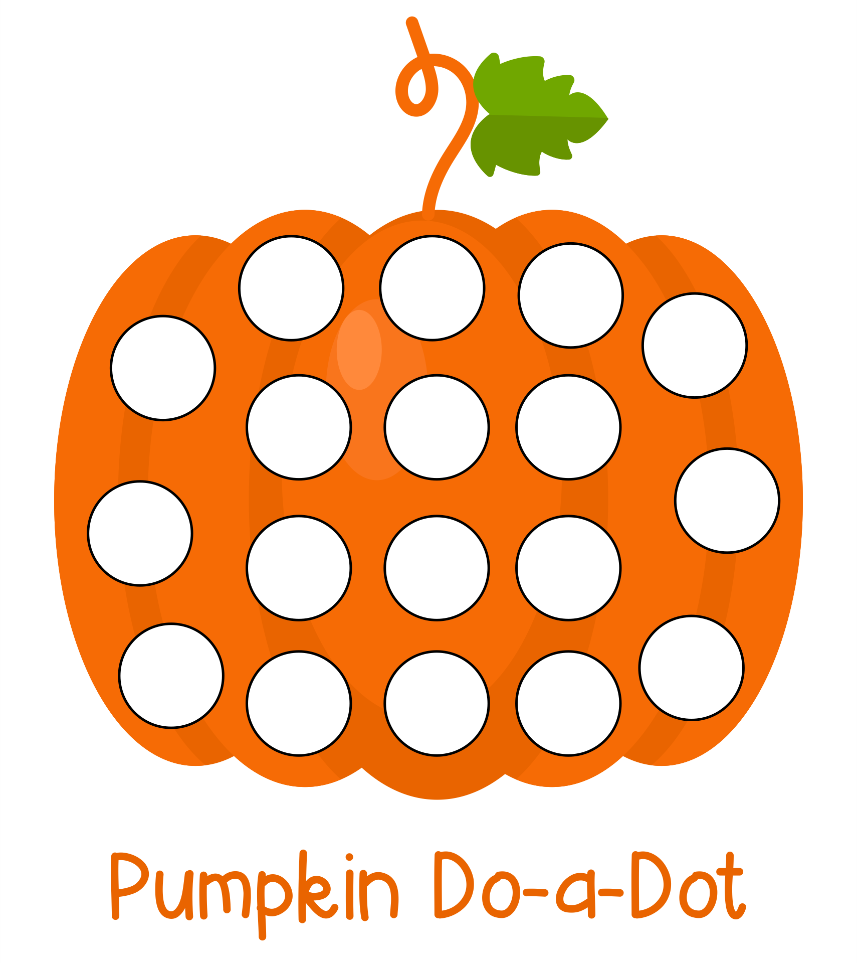 Do a Dot Printables Pages
