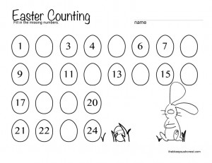 4 Images of Easter Egg Printables For Counting