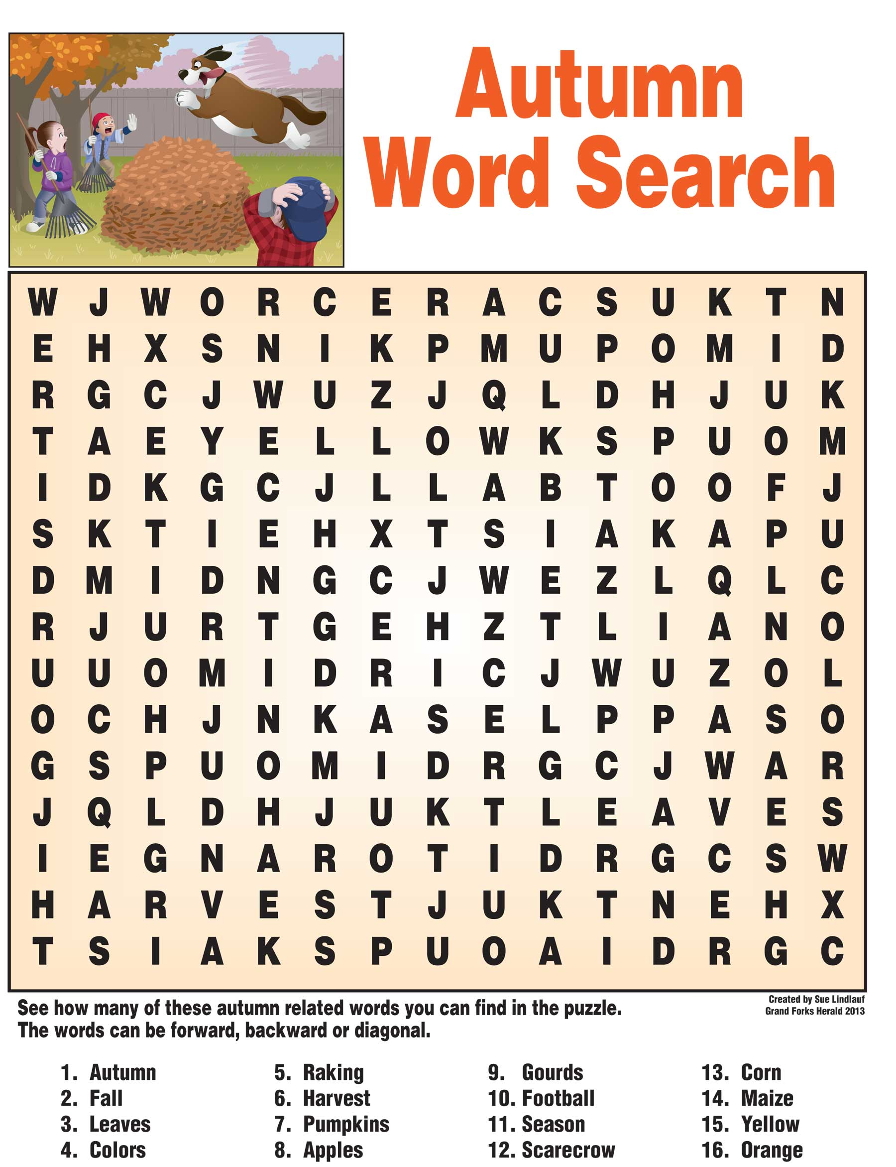 Worksheet Printable Words 6 best images of fall vocabulary words printable word search puzzles