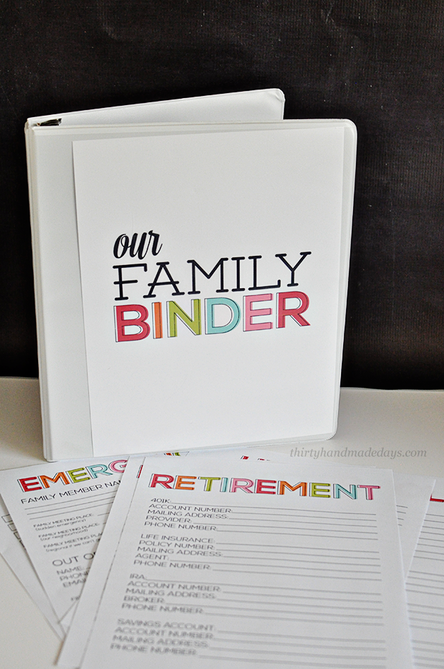 9 Images of Updated Family Binder Printables