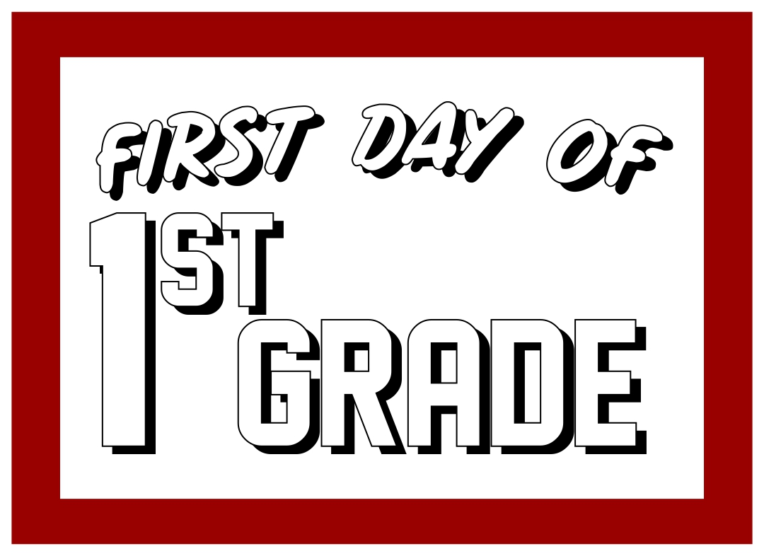 9 Images of 5th Grade First Day Of School Sign Printables Free