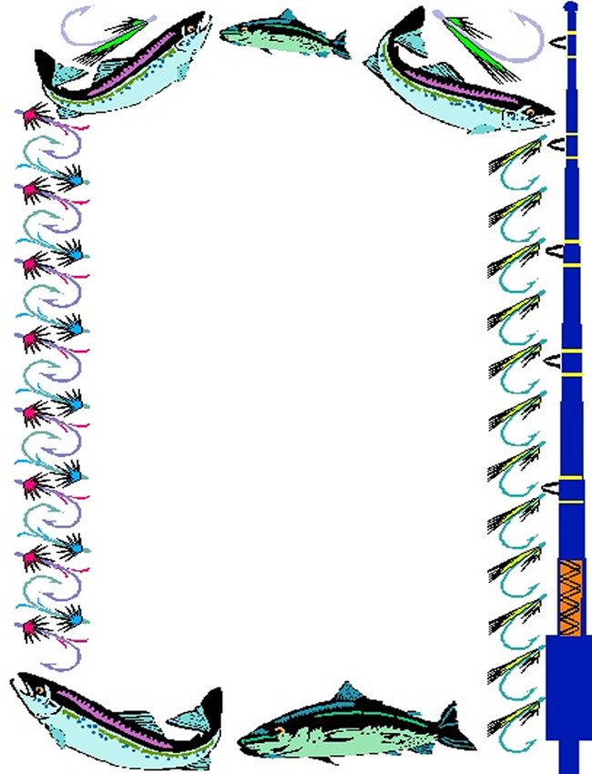 4 Images of Printable Fish Border