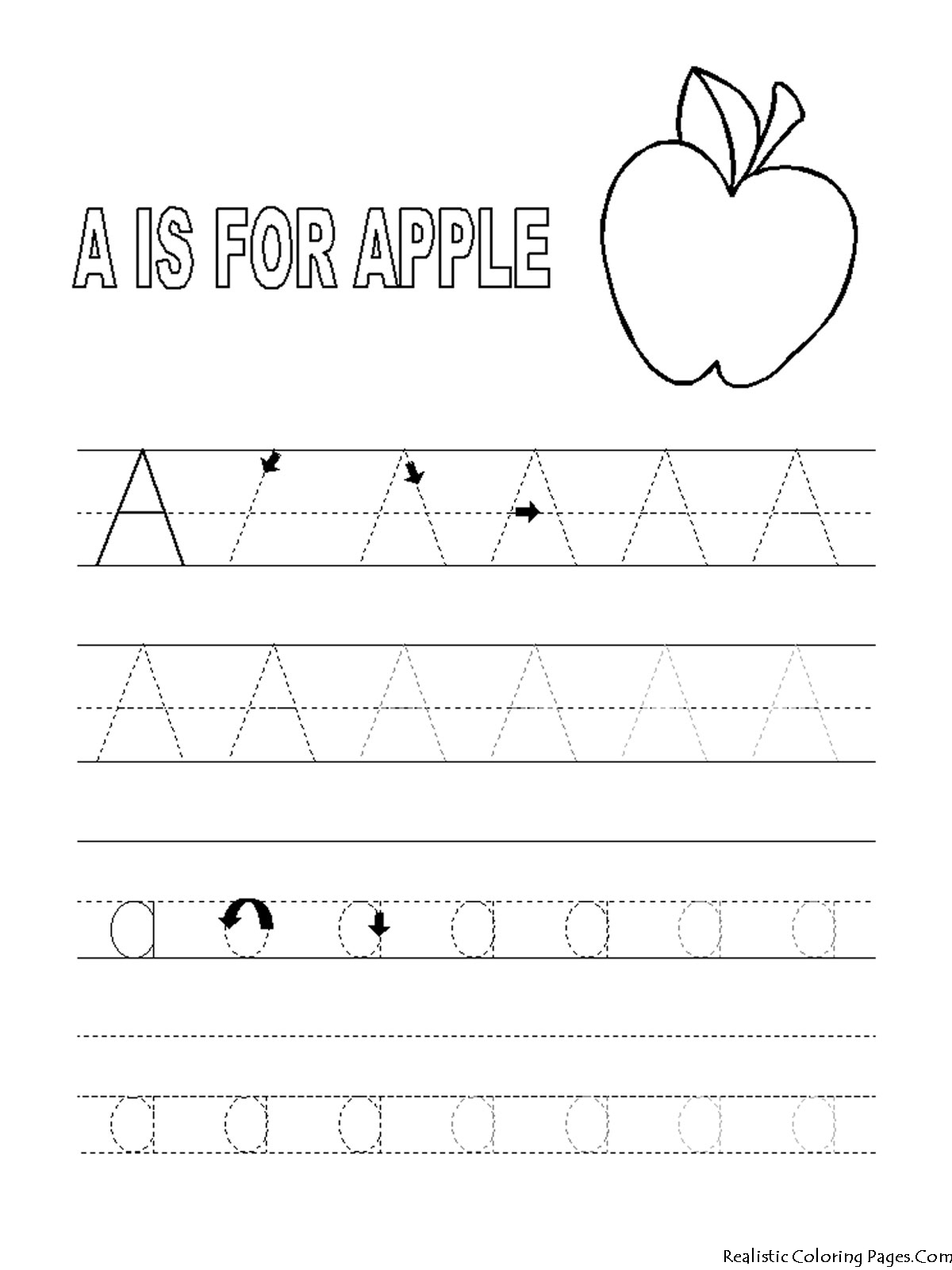 8 Images of Printable ABC Tracing Coloring Pages