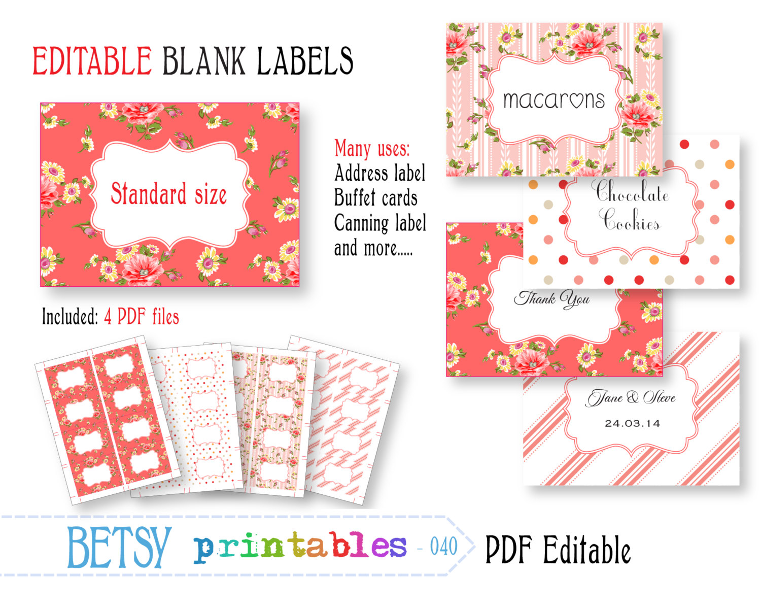 Free Printable and Editable Labels