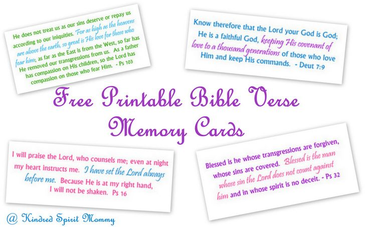 7 Images of Memory Verse Printables