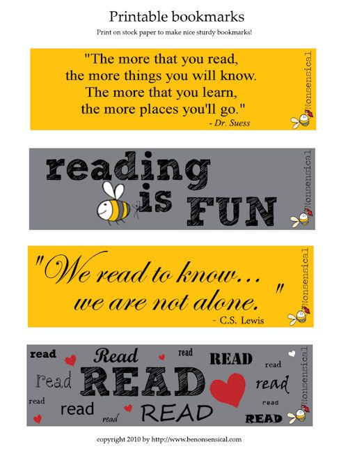 7 Images of Printable Bumblebee Bookmarks
