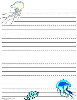 Animal border writing paper