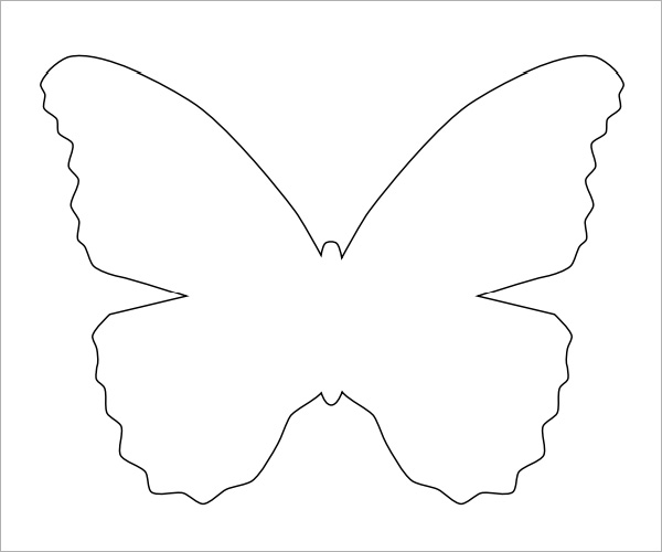 7 best images of free printable butterfly template printable butterflies pattern template for Butterfly template pdf