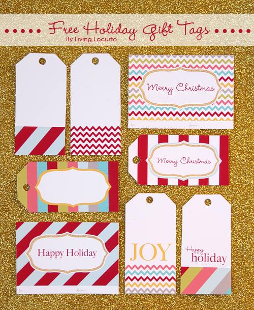 4 Images of Printable Holiday Gift Tags