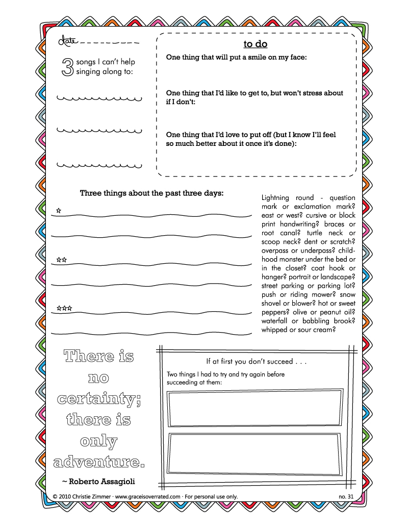 4 Images of Free Printable Blank Journal Pages
