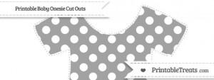 4 Images of Grey Polka Dot Template Printable