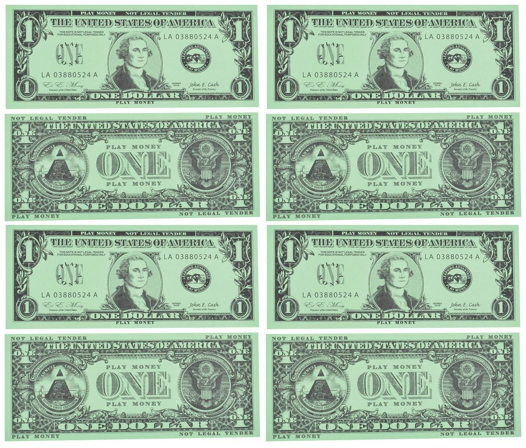 8 Images of Fake Play Money Printable