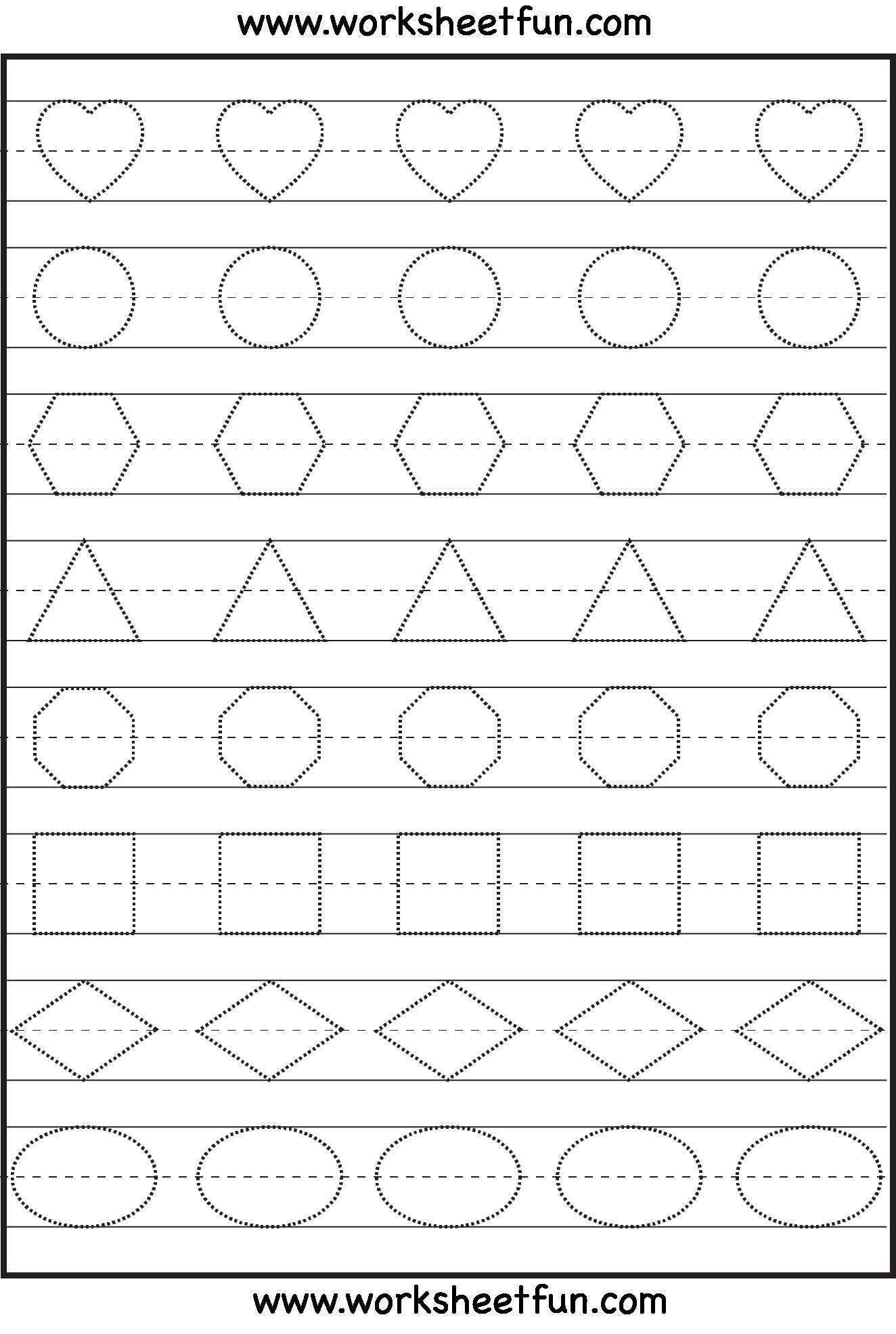 Free Pre K Worksheets Tracing - Worksheets