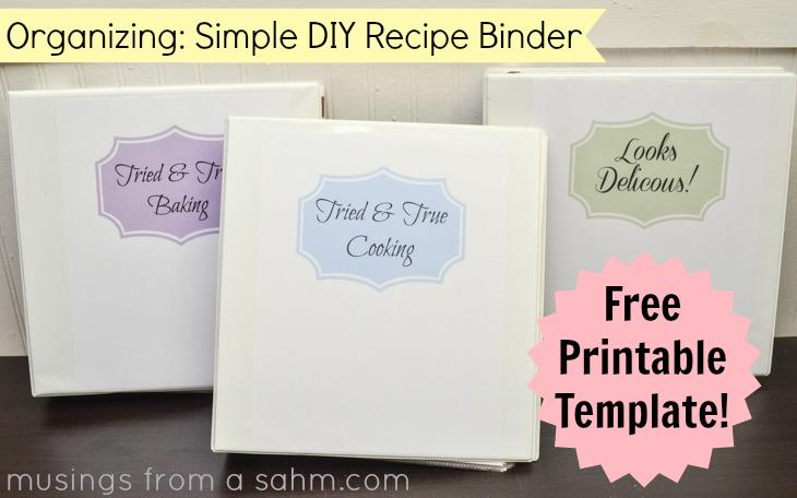 6 Images of DIY Recipe Binder Printables
