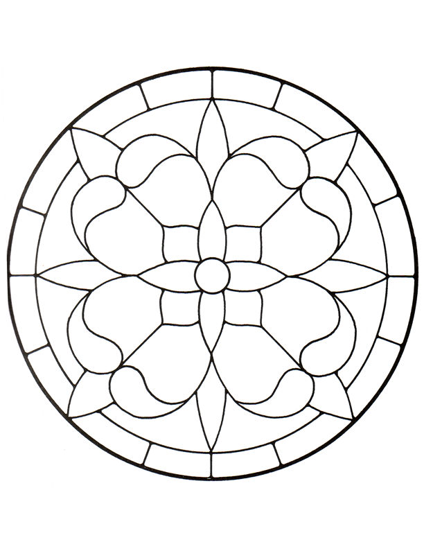 4 Images of Free Printable Stained Glass Patterns