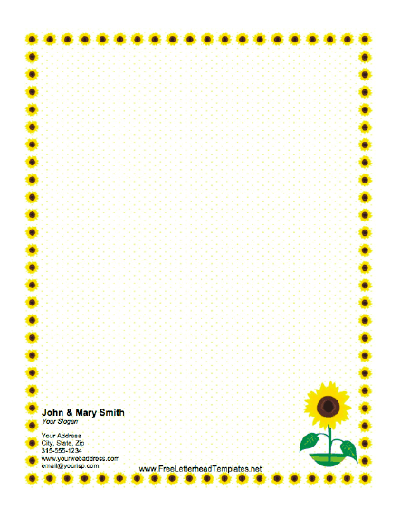8 Images of Sunflower Borders Free Printables