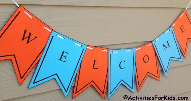 welcome back sign printable free