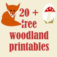 6 Images of Free Printables Woodland Animal Nursery Border