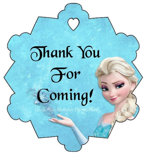 7 Images of Frozen Printables Thank You