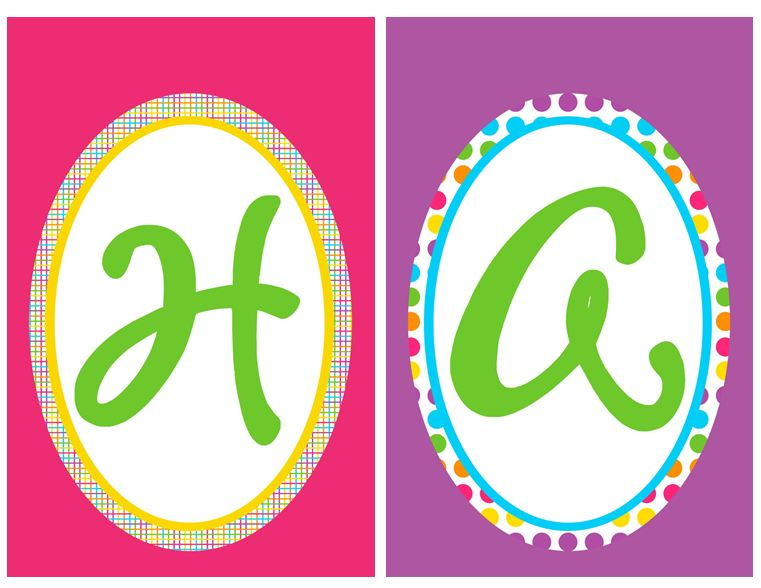 7 Images of Happy Birthday Alphabet Template Free Printable Banner Letters