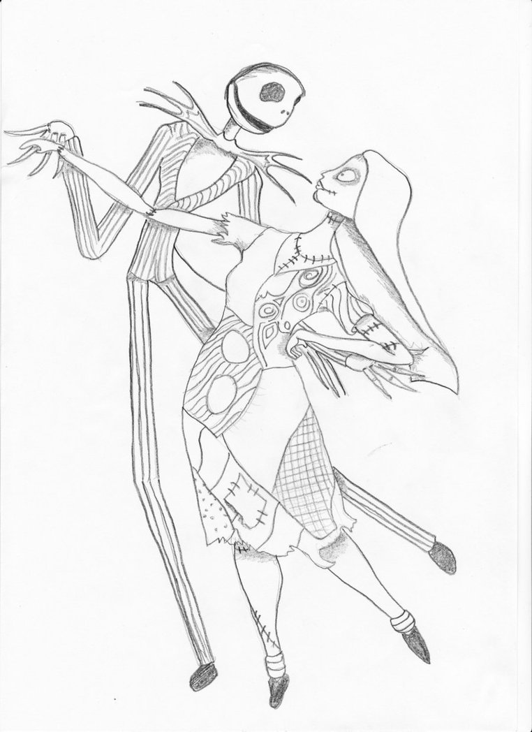 jack and sally coloring pages 7 best images of jack skellington coloring pages