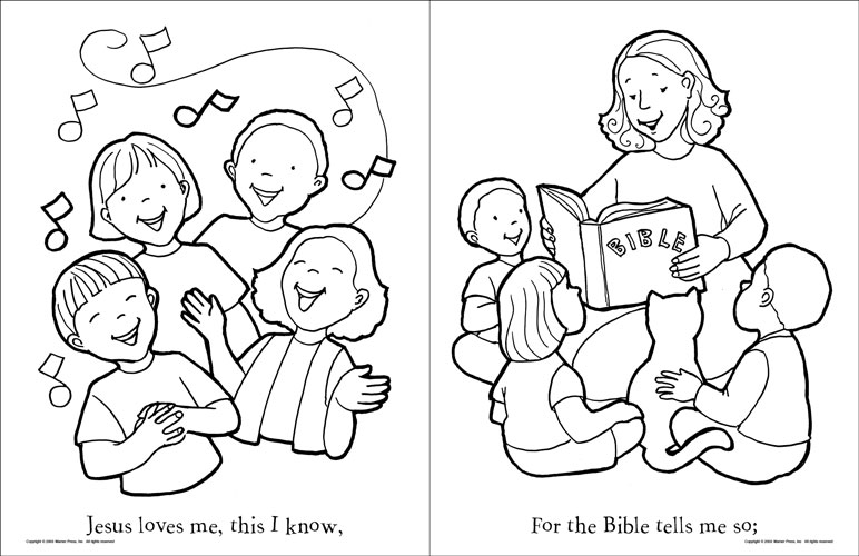 4 Best Images of Jesus Loves You Coloring Printables  Jesus Loves