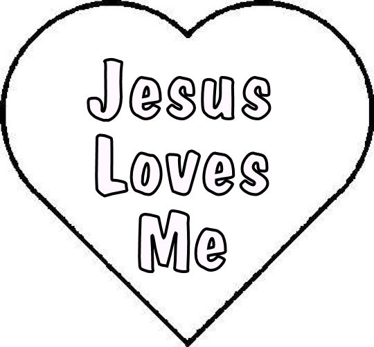 4 Images of Jesus Loves You Coloring Printables